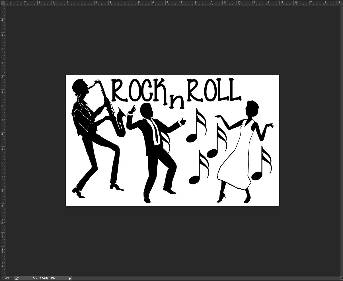 Rock and roll sax player 110 x 180mm min buy 3